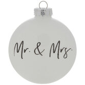 Mr & Mrs Disc Ornament