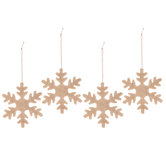 Burlap Snowflake Ornaments