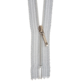 Silver Fancy Zipper - 7""