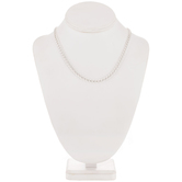 Sterling Silver Plated Curb Chain Necklace - 18""