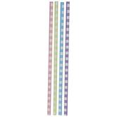 Pastel Gingham Paper Straws