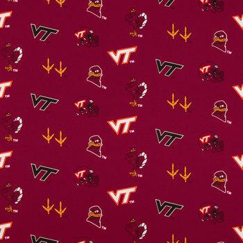 Virginia Tech Allover Collegiate Cotton Fabric