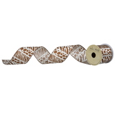 "Animal Print Wired Edge Satin Ribbon - 2 1/2"""