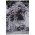 Bike & Pink Flowers Canvas Wall Decor