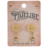 10K Gold Plated Deco Earrings