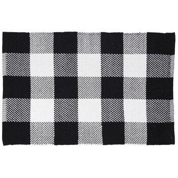 Black & White Buffalo Check Rug