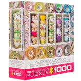 Colorful Tea Cups Puzzle