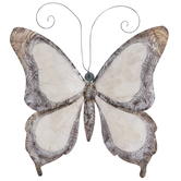Silver & Cream Butterfly Metal Wall Decor