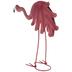 Pink Metal Bobble Flamingo