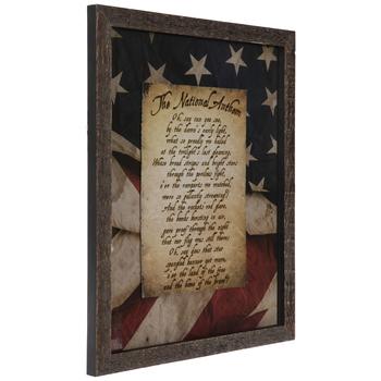 National Anthem Framed Wall Decor