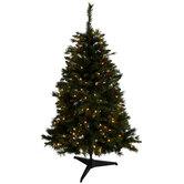 Yuletide Pine Pre-Lit Christmas Tree - 4 1/2'