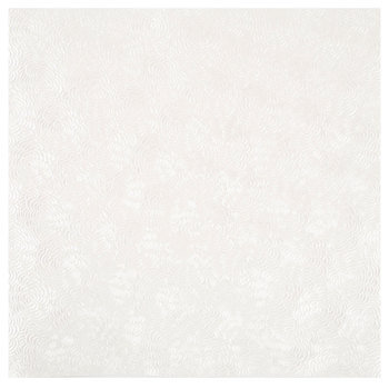 "White Embossed Rose Scrapbook Paper - 12"" x 12"""