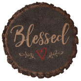 Blessed Round Wood Magnet