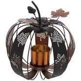 Pumpkin Metal Candle Holder
