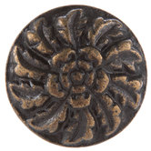 Antique Bronze Flower Round Metal Knob
