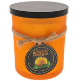 Harvest Pumpkin Frosted Orange Jar Candle