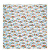 """Rainbows With Clouds & Hearts Scrapbook Paper - 12"""" x 12"""""""