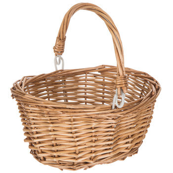 Natural Oval Willow Basket With Handle