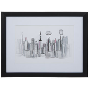 Cosmetic Tool Cityscape Framed Wall Decor
