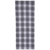 White & Black Plaid Table Runner