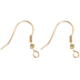 18K Gold Plated Fish Hook Ear Wires - 21mm