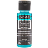 Turquoise Americana Multi-Surface Metallic Acrylic Paint
