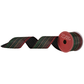 Stripes & Dots Wired Edge Ribbon - 2 1/2""