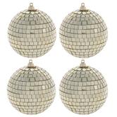 Gold Disco Ball Ornaments