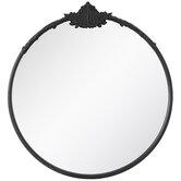 Round Flourish Top Wall Mirror
