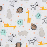 Animals & Polka Dots Gauze Fabric