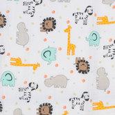 Animals & Polka Dots Gauze Fabric