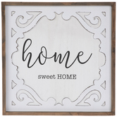 Home Sweet Home Swirl Wood Wall Decor