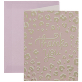 Pink & Gold Leopard Print Thank You Cards