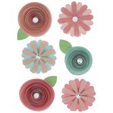 Rosette Flower Stickers