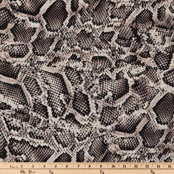 White & Brown Python Apparel Fabric