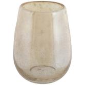 Amber Luster Round Glass Vase