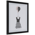 Dress With Balloons Framed Wall Decor