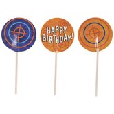 Happy Birthday Bullseye Cupcake Toppers