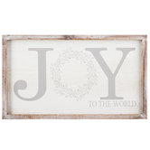Joy To The World With Wreath Wood Wall Decor