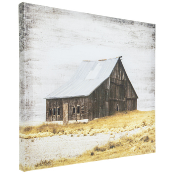 Brown Barn Canvas Wall Decor