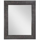 Bronze Hammered Metal Wall Mirror