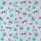 Floral BoHo Apparel Fabric