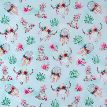 Floral BoHo Apparel Fabric