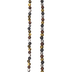 Faceted & Round Pedestal Metal Bead Strand