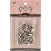 Nickel Curved Safety Pins - Size 1