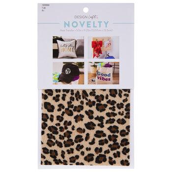 Leopard Print Faux Fur Iron-On Transfer