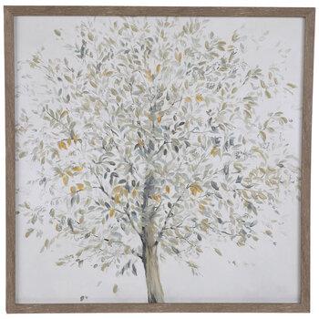 Tree On White Canvas Wall Decor