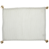 White Knit Jingle Bell Placemat