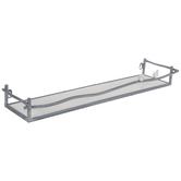 Gray & White Bird Metal Wall Shelf