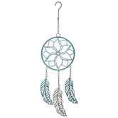 Blue Metal Dreamcatcher Wall Decor